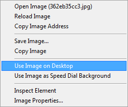 Use Image on Desktop